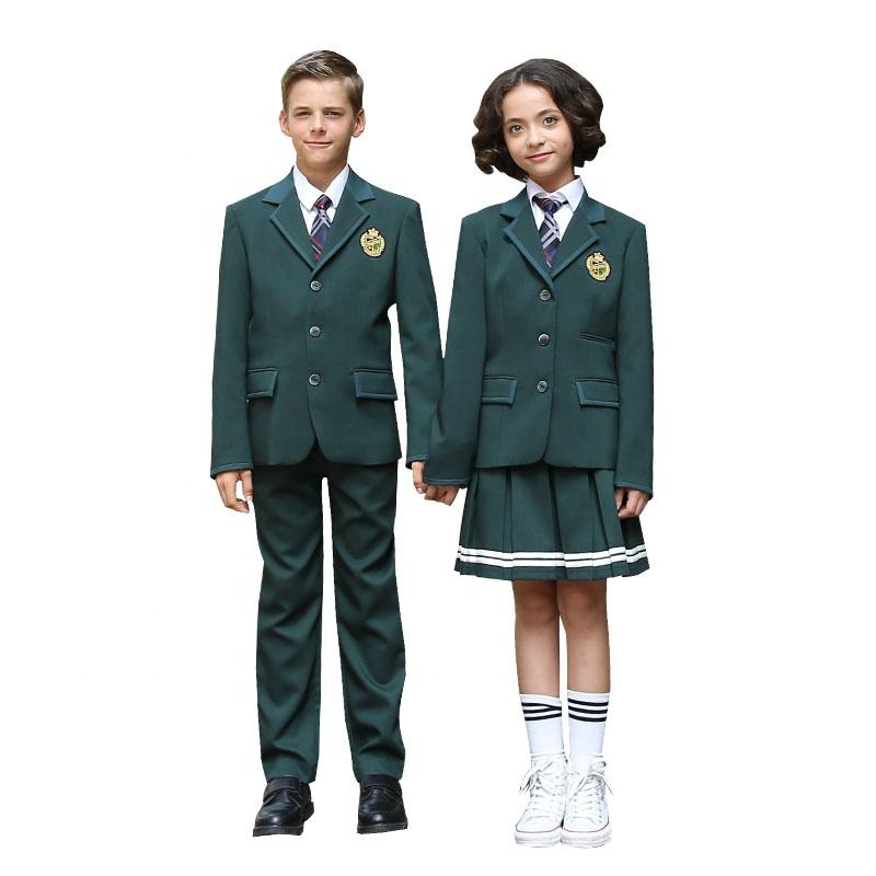 New Style Spring and Autumn Primary and Kindergarten Boys and Girls School Uniform Blazer Set