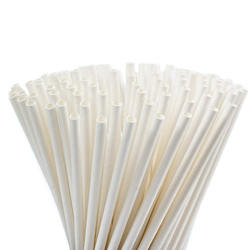 Food Grade Custom Paper Straws Natural White Drinking paper straw biodegradable