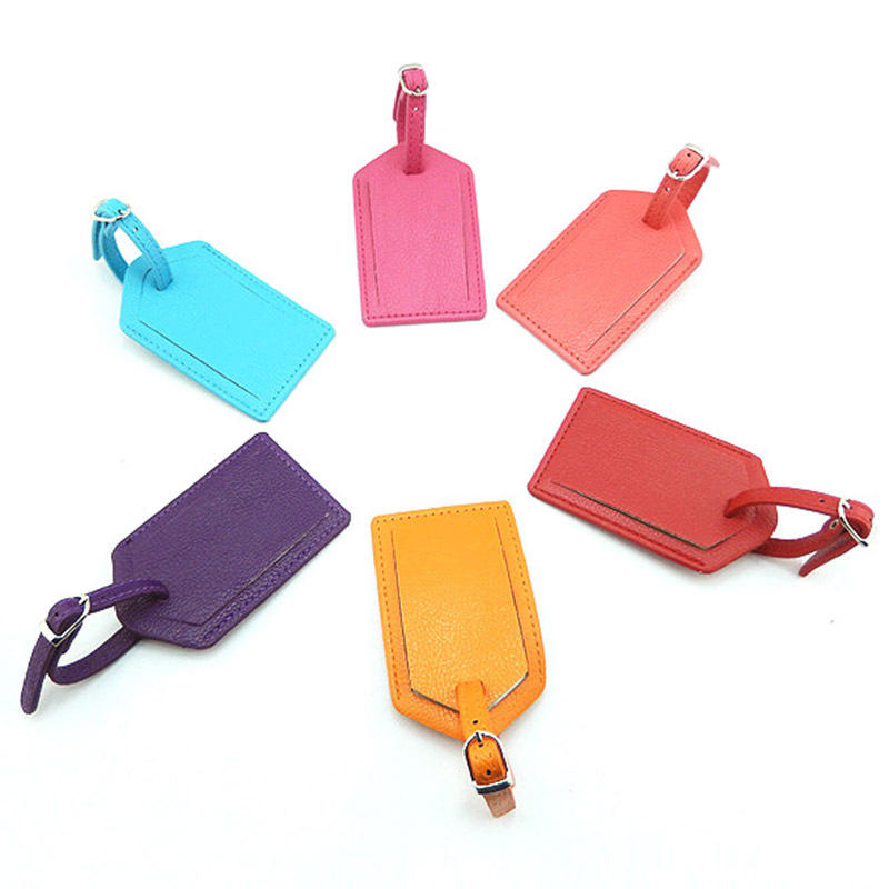 Professional PU luggage tags for travel can customized