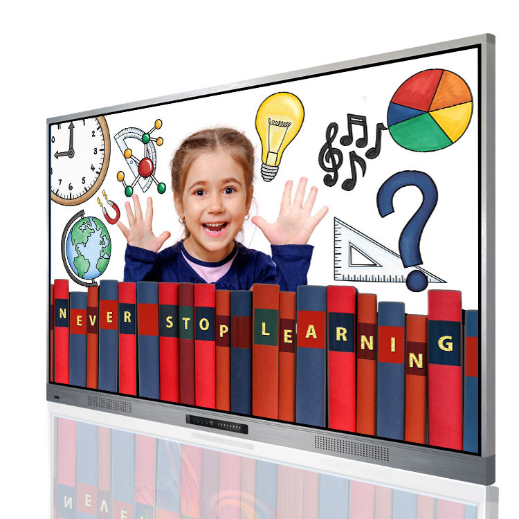 "65 ""Smart TV 4K LED Interaktiver Touchscreen Ultra Slim Interaktives Whiteboard mit Aluminium rahmen Smart Boards für die Schule"