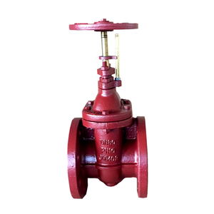 DIN F4 Cast iron Non rising stem metal seat gate valve