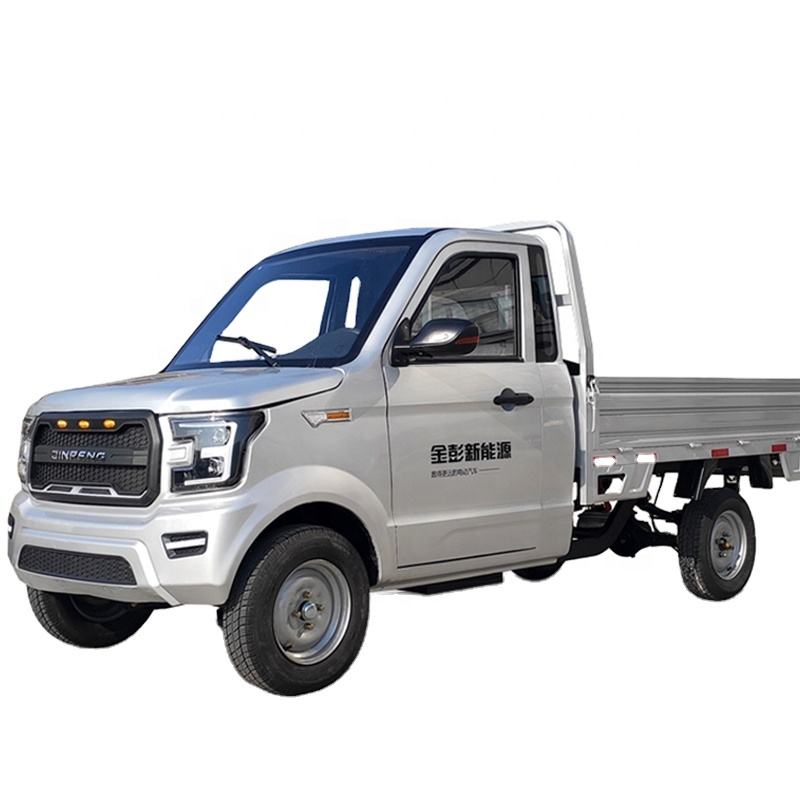 JINPENG Heavy Loading Four Wheeler Two Seat Mini Electric Pickup Cars for Cargo