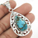 Sky blue turquoise pendant Indian jewelry solid fine 925 sterling silver pendants wholesaler silver jewelry suppliers