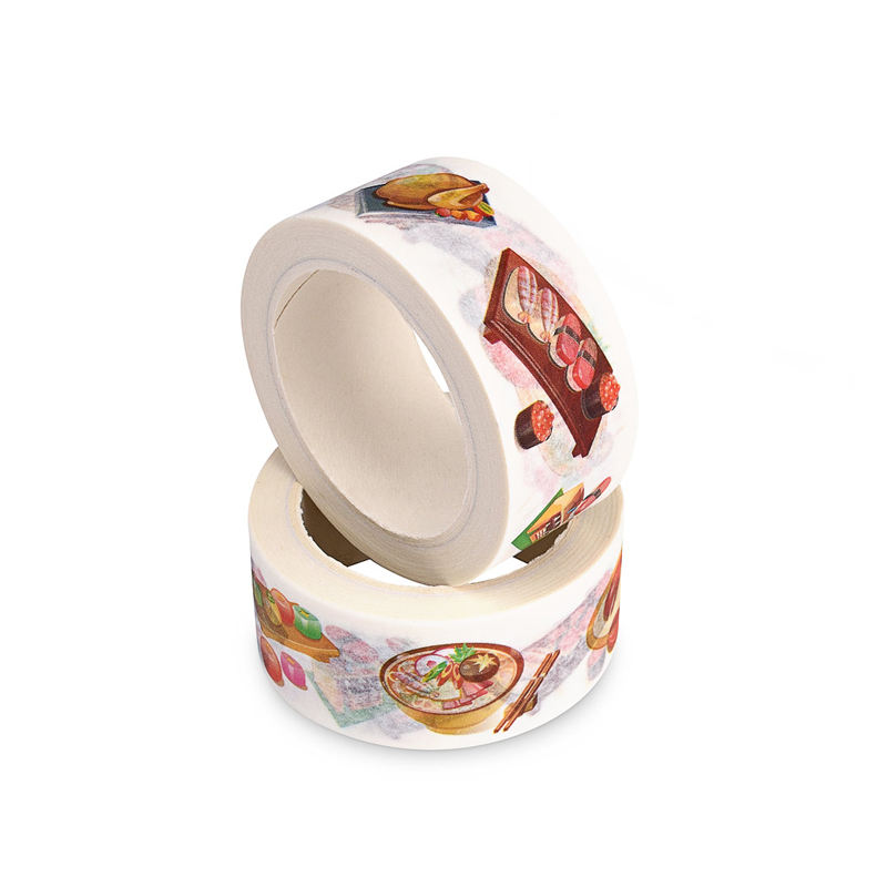Wholesale custom printed japanese washi paper decoration tape with customised logo