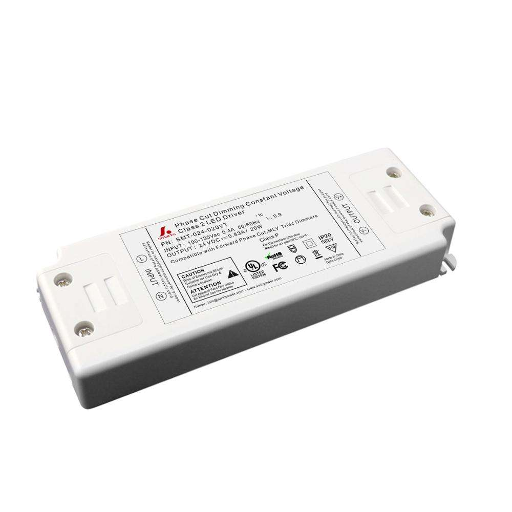 5 years warranty 24v 20w triac dimmable constant voltage led driver for led lighting