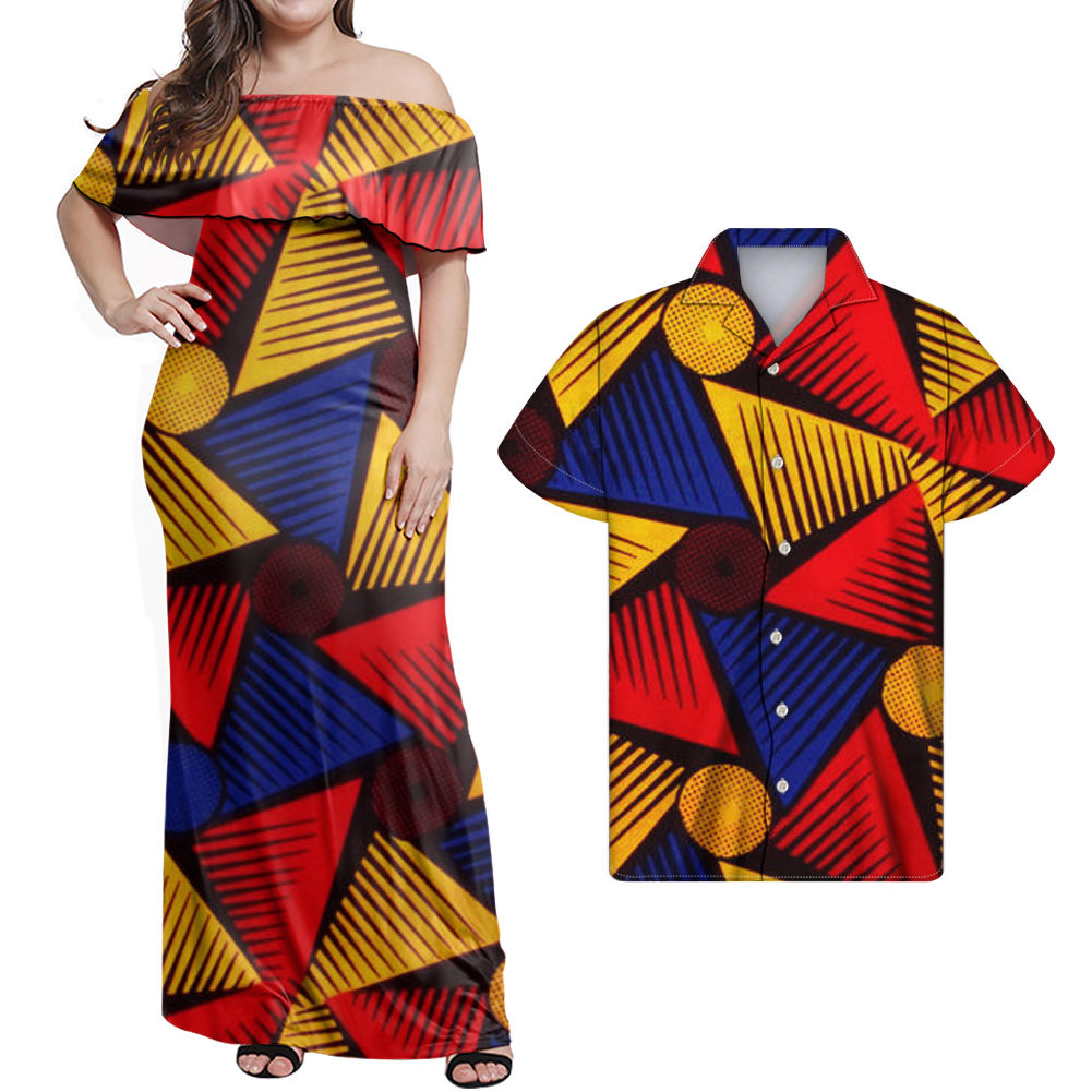African Couple Clothes 2 Pieces Lovers Couples Clothing African kente Print ankara dresses Plus Size 7XL kente Women Clothing