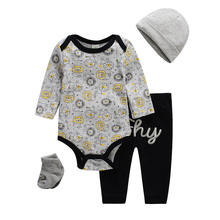 Good Price China Infant Clothes 100% Cotton Gift Set 4 in 1 Baby Clothing Set Baby Bodysuit