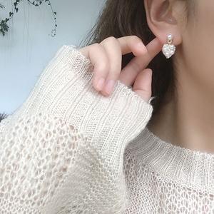 Korean Style Cute Girls Small Stud Earrings Heart Shape Clip on Earrings Non Pierced for Women Ear clip
