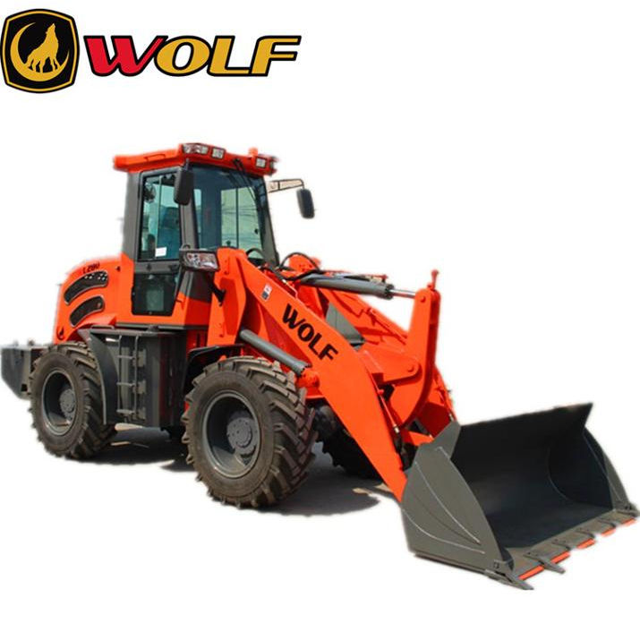 Articulated frame with box structure wolf 2.8t zl28 log clamp wheel loader in poland