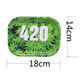 Multi- Design18CM 27CM 34CM Metal Smoking Rolling Trays Custom Pattern Printed Herb Weed Rolling Tray Smoking Wholesale