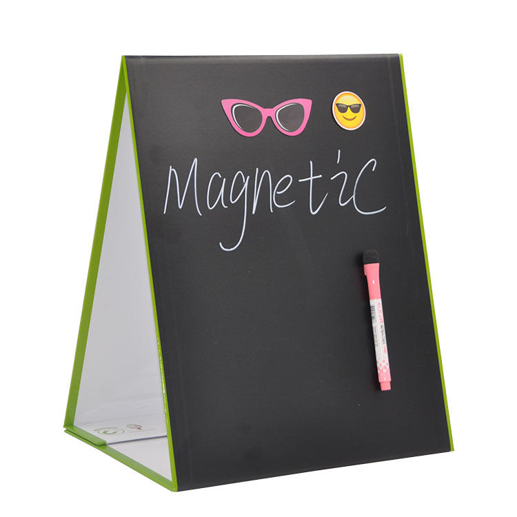 Factory Customize Dry Eraser Board Folding Double Sided White Board Mini Magnetic Whiteboard For Student