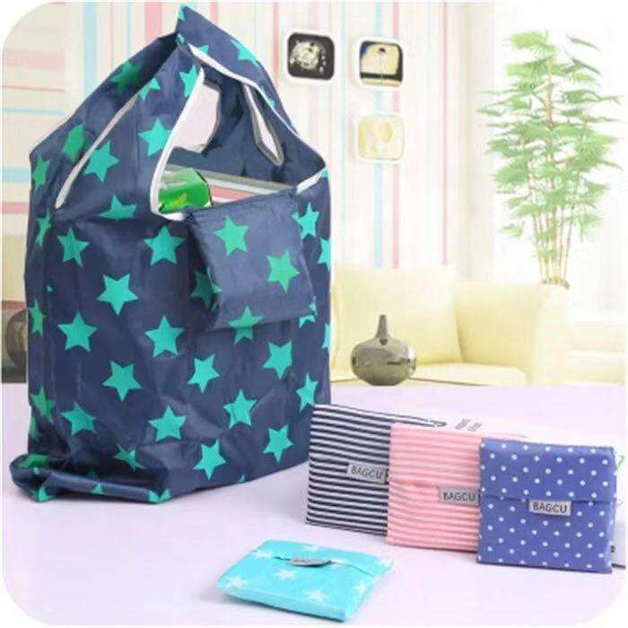New design polyester nylon reusable foldable shopping bag