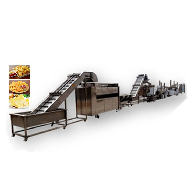 High Capacity Potato Chips French Fries Production Line Frozen French Fries Making Machines