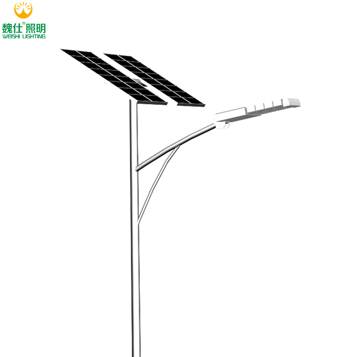 100w 120w 150w Gel Battery 12V Hot Sale CCTV Camera Solar Panel Waterproof Livarno Lux LED Solar Street Light Parking Lot Yard