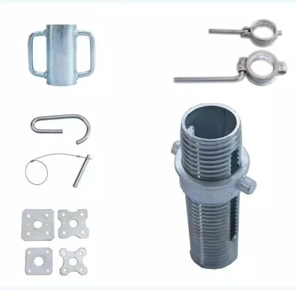 Prop sleeve with nut scaffolding accessories