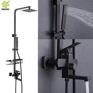 Modern stainless steel 304 brushed manufacturer bathroom shower column mixer set