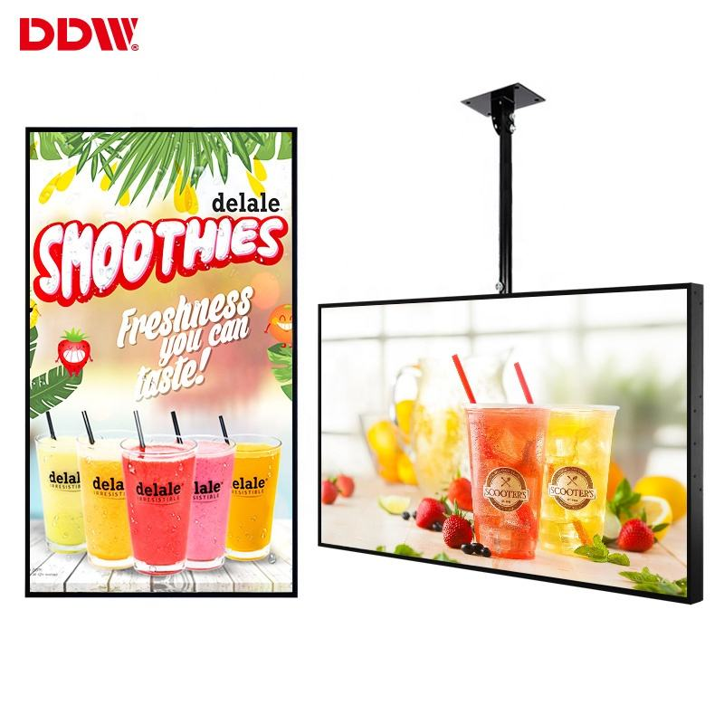 55inch 2500 nit lcd display window digital signage high brightness sunlight readable lcd monitor