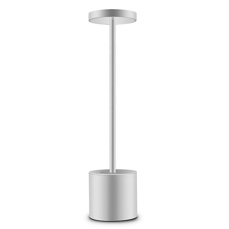 Modern Hotel Style Energy Saving Table lamp Aluminium USB Rechargeable LED Cordless Restaurant Table Lamp For Dinner