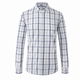 Social Formal Men Shirt Long Sleeve Plaid Business Office Shirt Male Cotton Dress Clothing
