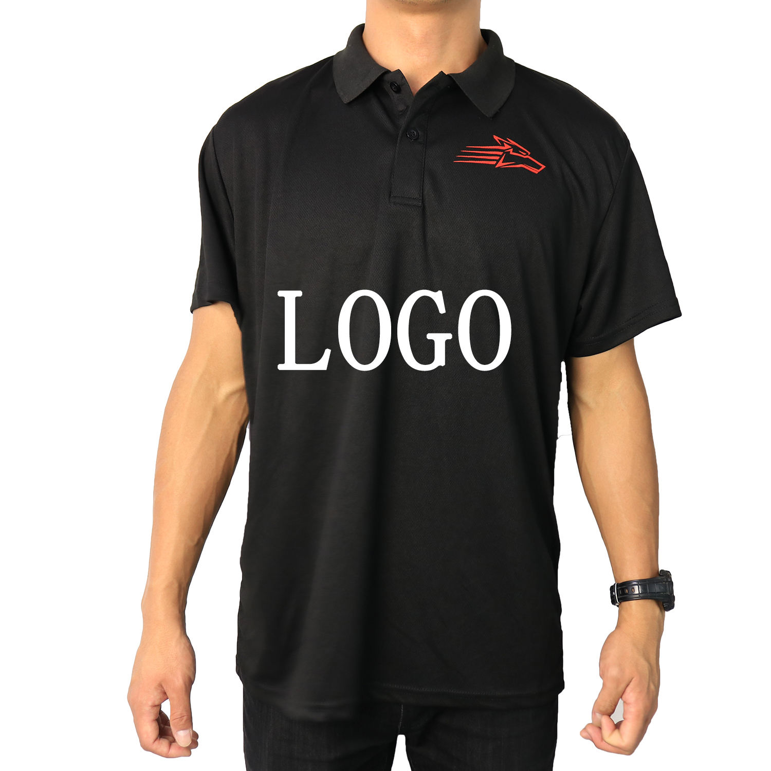 quick dry short sleeve cotton playeras tipo polo shirts for men
