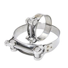 Multi Specification Stainless Steel Heavy Duty Hose Clamp SS Adjustable T Bolt Clamp For Automotive Food