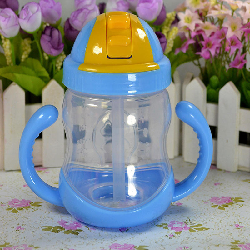 Baby water bottle straw Kids Cup pp Children Training Cups Drinking Straw Handle Feeding Water Bottle for baby