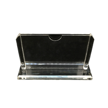 Customize Tabletop Clear Acrylic Card Stand Horizontal Paper Label Price Tag Display Holder Product introduction display