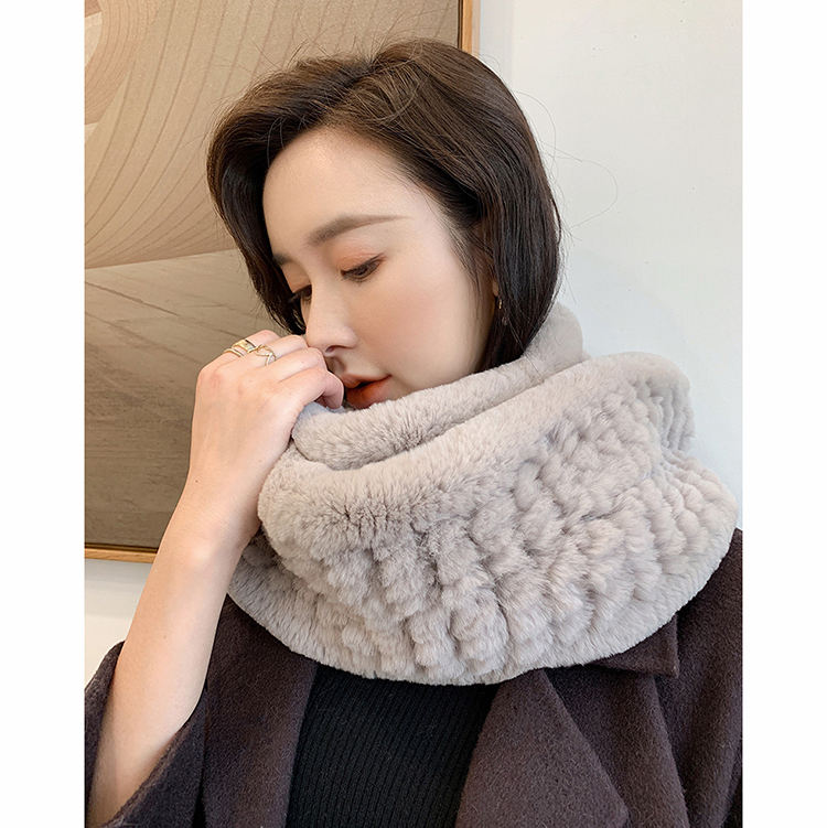 New Style Real Rabbit Fur Scarf Winter Fashion Thick Warm Women's Muffler Top Quality Shawls S7702