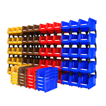 Save 50% on freight warehouse back hanging storage  bin plastic stackable bins parts box for screws nuts hardware toys