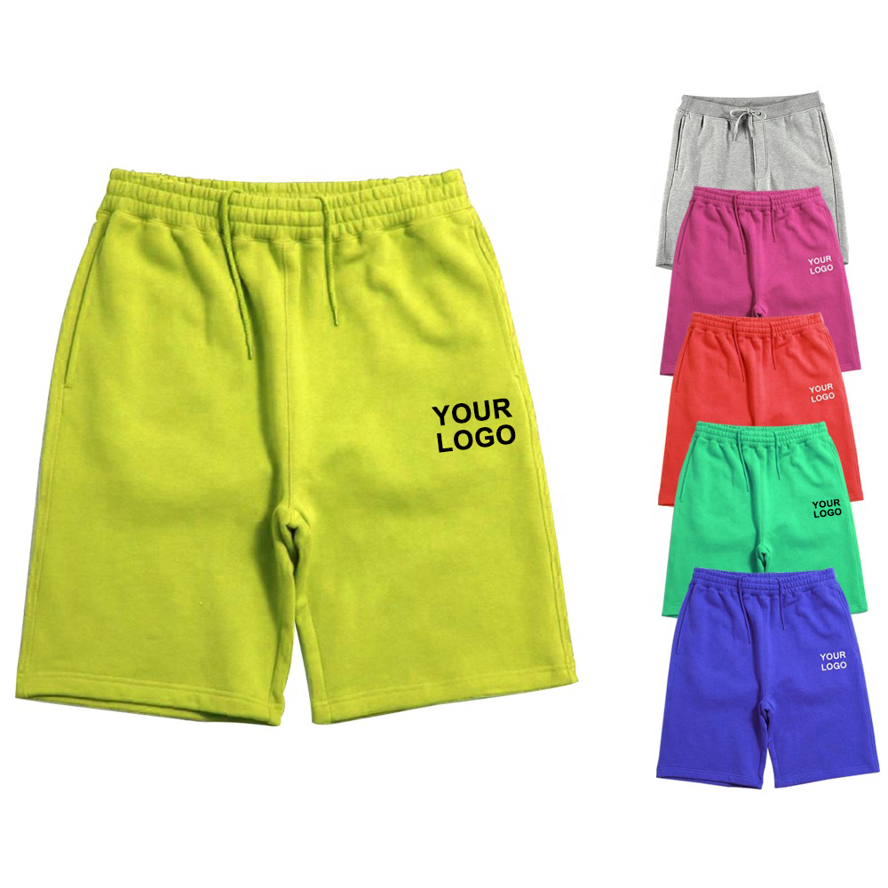 2021 New fashion Wholesale Custom Men's Sports Shorts Printed Cotton Fleece Colorful Sweat Shorts