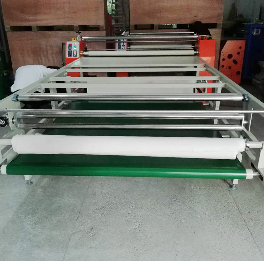 Factory Directly sale 160cm cutting roller fabrics to sheet roller lanyard heat press roller machine