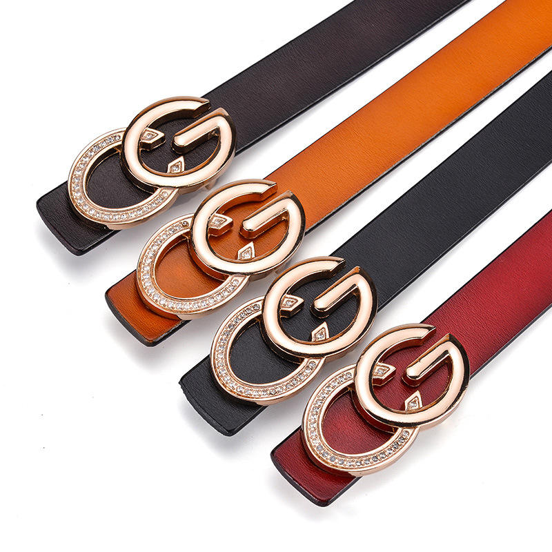 2020 Lady Belts High Quality Fashion Women Genuine Leather Waist Belts CG Buckle Strap for Jeans Pants 23mm