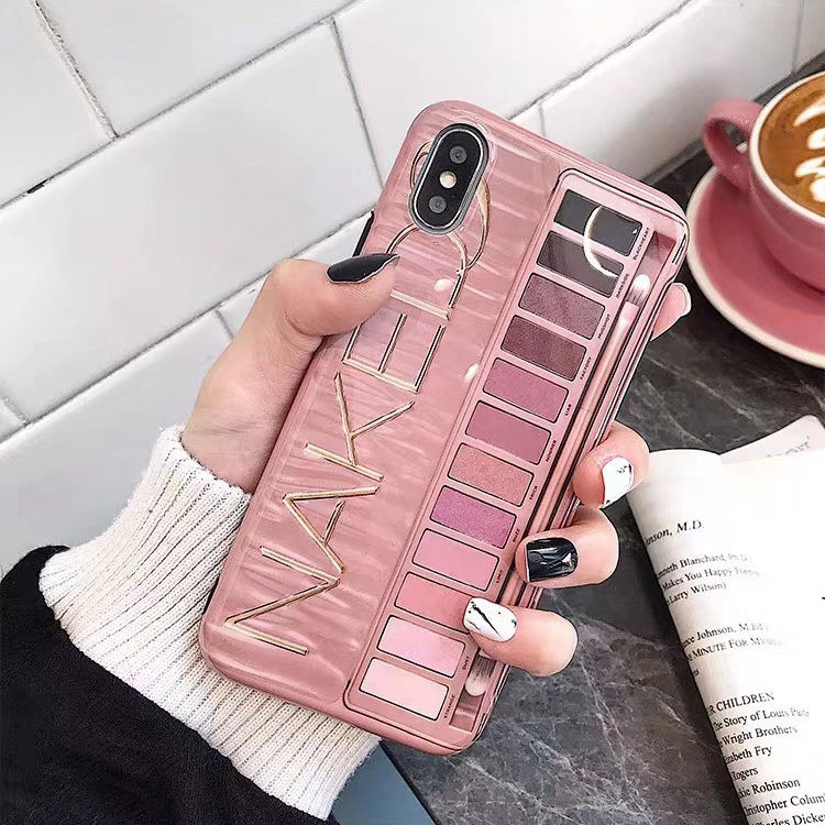 Makeup Eyeshadow Palette Case For i Phone ,Bumper Protective TPU Cover for iphone 11 pro max phone case Girly Phone Cases