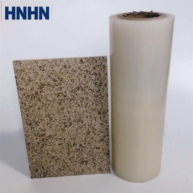 Alta adhesión superficie de piedra protectora de plástico rollo de película de superficie áspera