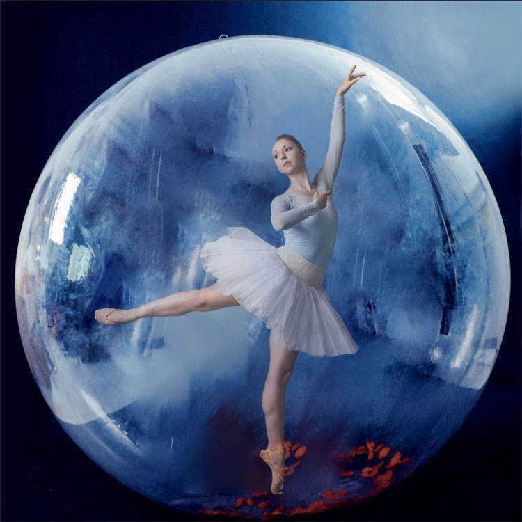 RTS 2m PVC inflatable water walking ball Ballet performance ball Transparent ball for stage/decoration