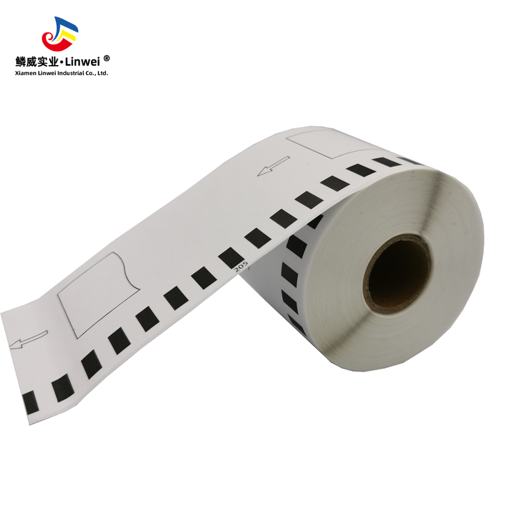 China Security Paper Tape Thermal Receipt Paper Rolls Dk-2205 Linwei
