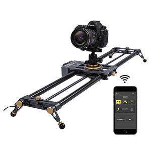 80cm Motorized Camera Slider APP Control, Carbon Fiber Video Slider Time Lapse Video Shot Dolly Slider for DSLR Film Photography