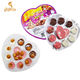 Wholesale 3 in 1 Rose Shape Sweet Candy Love Heart Biscuit Chocolate