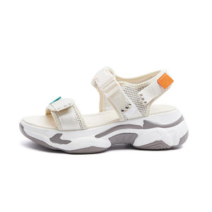 Latest fashion new design comfortable flat ankle strap suede summer ladies sandals for women