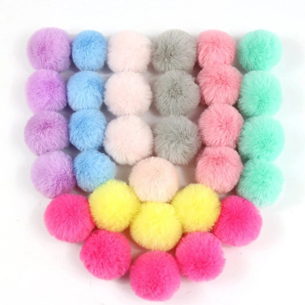 6/7/8cm High Quality Faux Rabbit Fur Ball Rabbit Hair Ball Furry Pompom For Wedding Accessories Phone Tag Keychain Charm