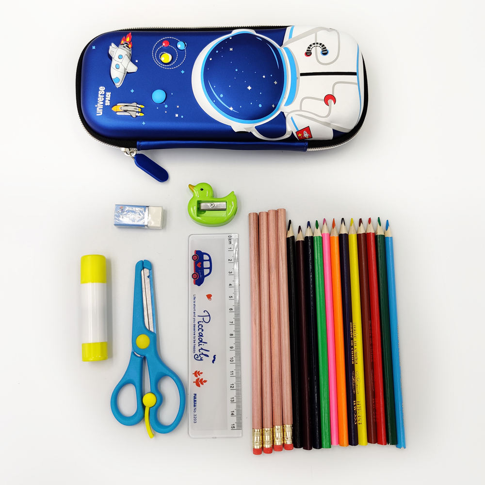 3d Pencil Case Eva Pen Boy Eco-friendly Hardtop Fun Universe Space Back To School