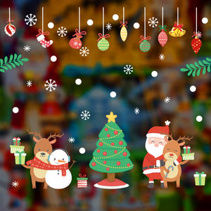 Christmas ornaments Christmas scene layout decoration stickers window glass window stickers holiday wall stickers