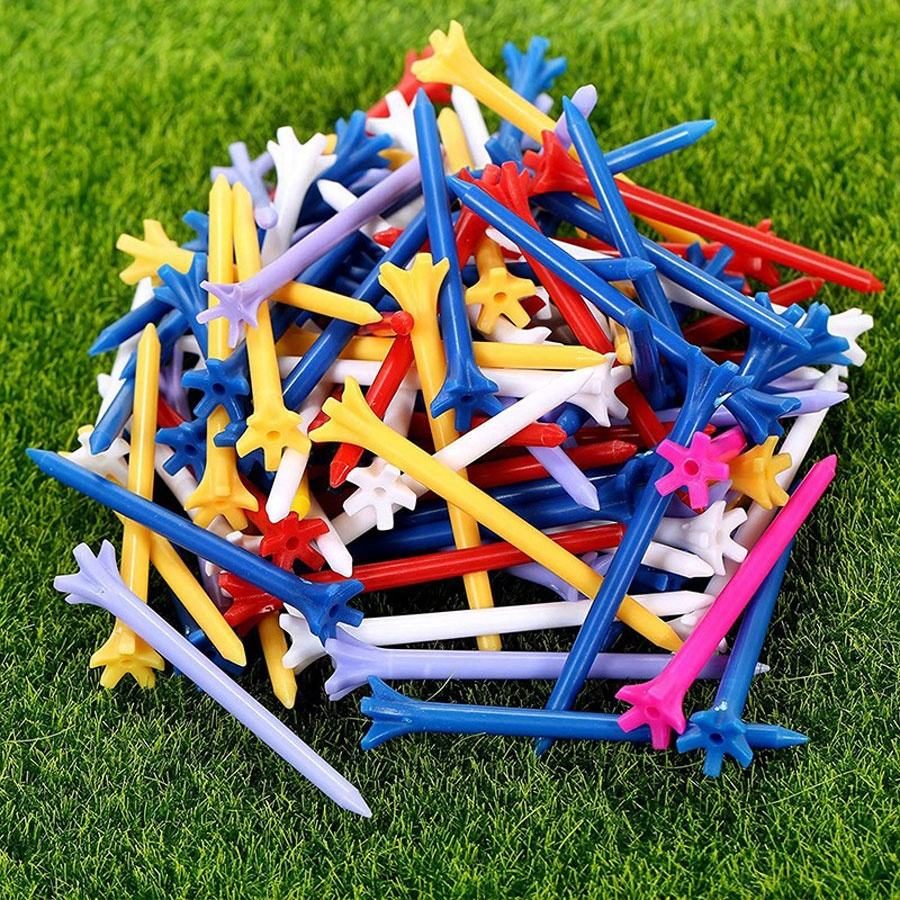 Original factor Zero Friction 5 Prong 70mm Plastic golf tees Multi Color Plastic Golf Tees Golf spike DHL Free