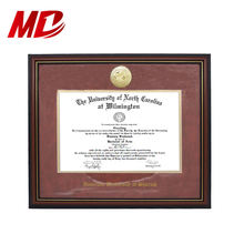 Gold Medal Customized Style 8.5*11'' A4 PS Certificate Graduation Frame With School Name