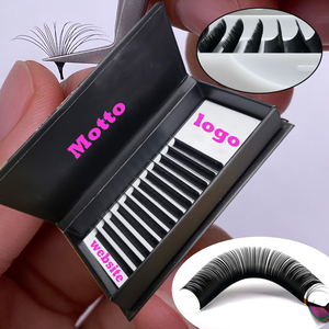 Mink lashes 3D fans easy make russian volume eyelashes extension