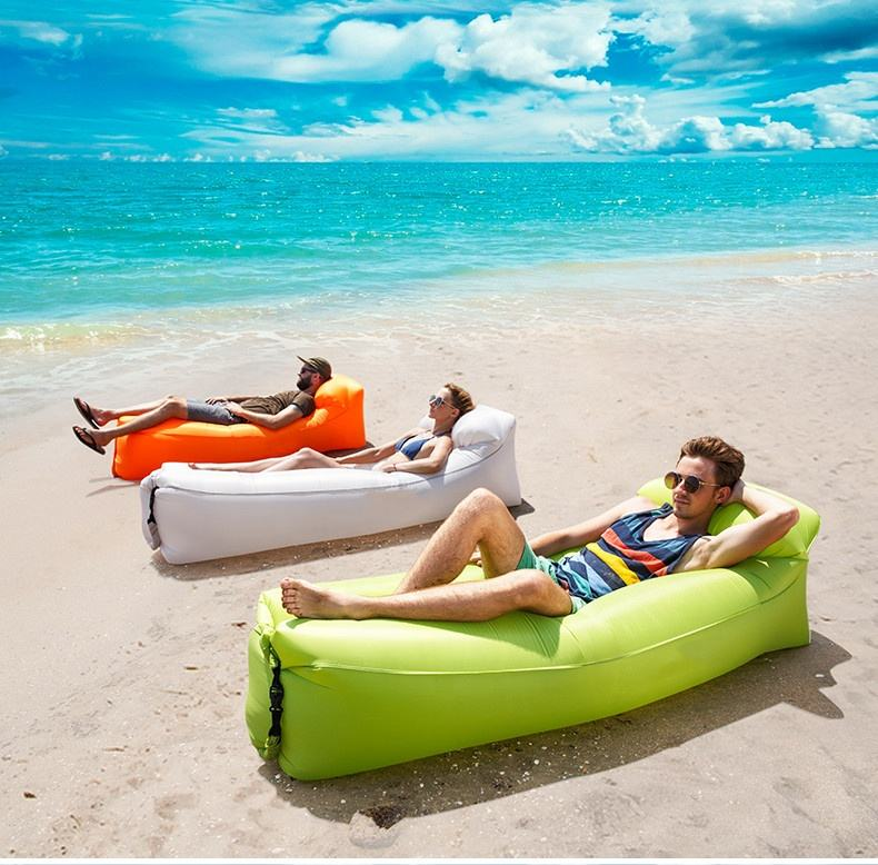 Outdoor beach Relax Lazy inflatable sofa Folding Air Sleeping Bag lounger sofa bed