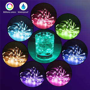 Usb Led Koperdraad String Lights Kerstboom Decoratie Bluetooth App Controle String Lamp Waterdicht IP65 Fairy Lights