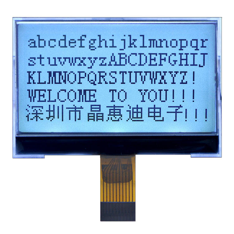 128X64จุด2.4นิ้ว<span class=keywords><strong>Lcd</strong></span> JHD12864-G476BSW-G