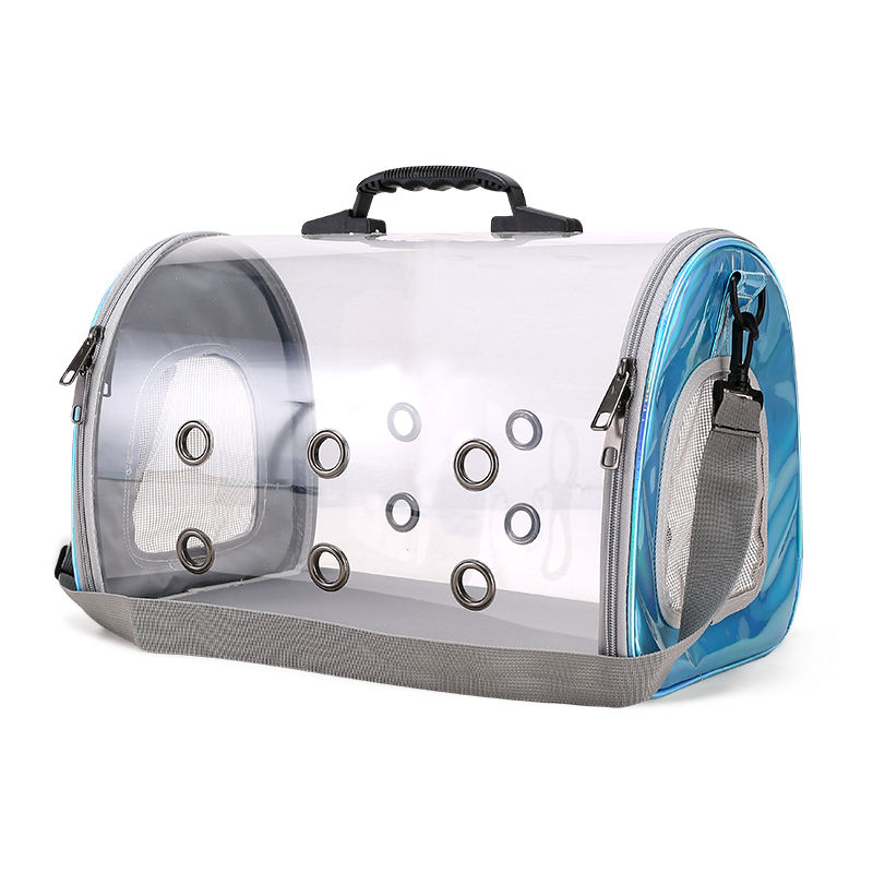 Commercio all'ingrosso portatile gabbie durevole tote trasparente borsa a casa pet dog carrier