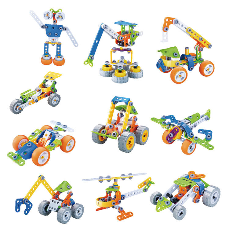 Toy Factory 10 In 1 Flexible Puzzle Model Stem Buliding Toys Plastic Screw Connecting Toys Soft Blocks Play Toys For Children